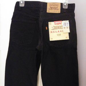 Levis 550 Relaxed Fit Men's Black Jeans NEW
